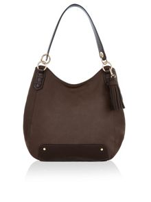 Accessorize Mixie soft bucket suedette shoulder bag