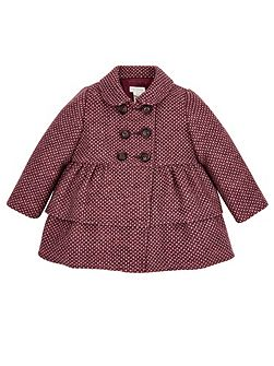 Baby Girl Penny Purple Tweed Coat