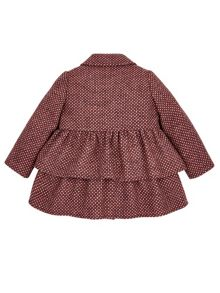 Monsoon Baby Girl Penny Purple Tweed Coat