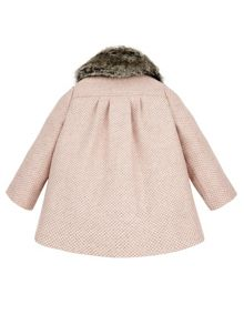 Monsoon Baby Girl Annie Tweed Coat