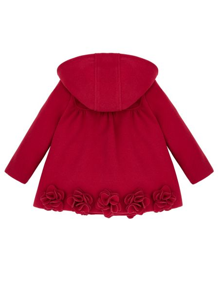 Monsoon Baby Girl Rosalie Roses Coat