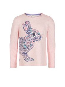 Monsoon Girls Rosie Rabbit Jewel T-Shirt