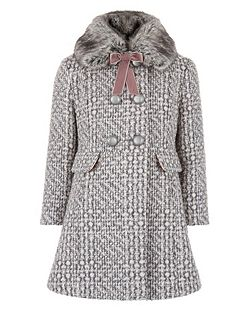 Girls Camelia Tweed Coat