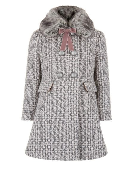 Monsoon Girls Camelia Tweed Coat