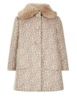 Girls Coco Leopard Coat
