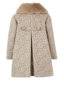 Monsoon Girls Coco Leopard Coat