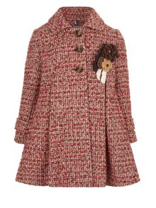 Monsoon Girls Heather Tweed Coat