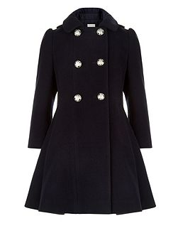 Girls Marina Double-Breasted Coat