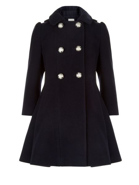 Monsoon Girls Marina Double-Breasted Coat