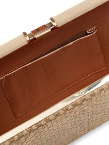 Accessorize Holly Woven Hardcase Clutch Bag