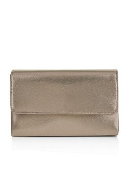 Freya metallic clutch bag