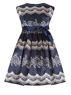 Girls Lulu Lace Print Dress