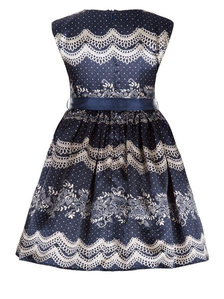 Monsoon Girls Lulu Lace Print Dress