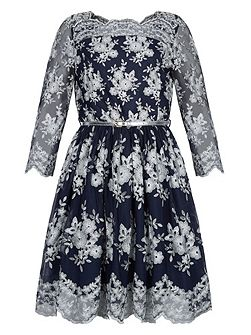 Girls Julianna Long Sleeve Dress