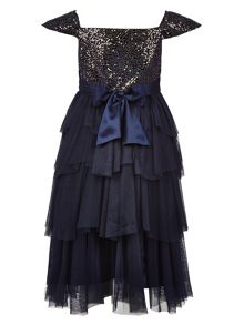 Monsoon Girls Akari Velvet Dress