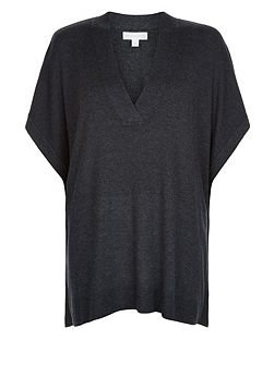 Victoria V Neck Cape Jumper