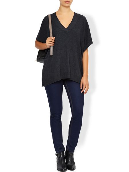 Monsoon Victoria V Neck Cape Jumper