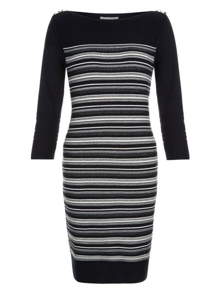 Monsoon Salem Stripe Stitch Dress