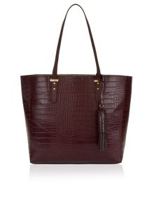Accessorize Brogan croc tassle tote bag