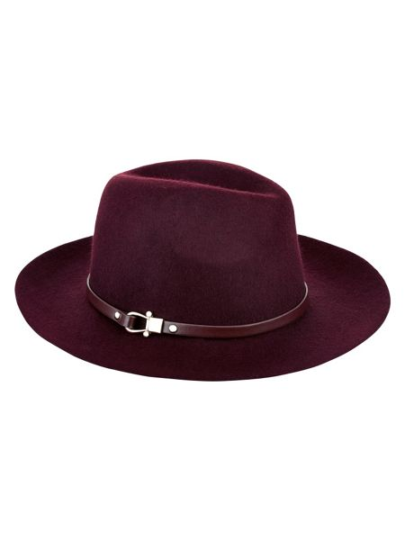Accessorize Sofia belted fedora hat