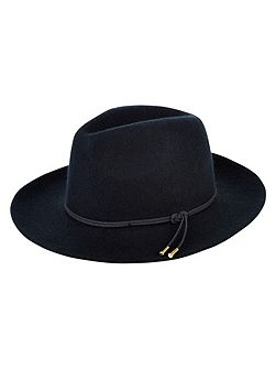 Ava knotted trim fedora hat
