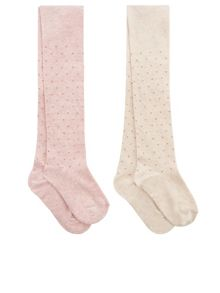 Monsoon Baby Girl 2 Pack Mini Spot Tights