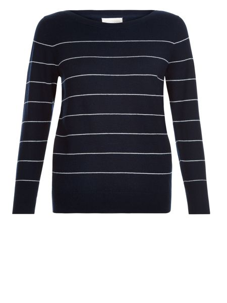 Monsoon Sarah Stripe Cowl Jumper