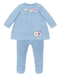 Baby Girl Knitted Dress & Tights