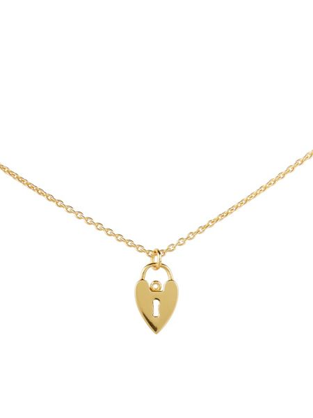 Accessorize Padlock Heart Pendant Necklace