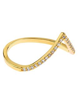 Diamante Wishbone Ring