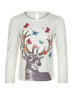 Girls Darla Deer Top