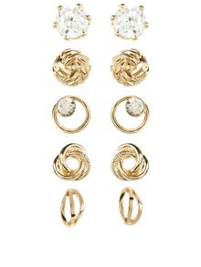 Accessorize 5 X Knot Stud Earrings Set