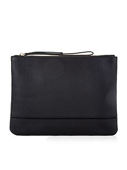 Scarlett leather zip top bag