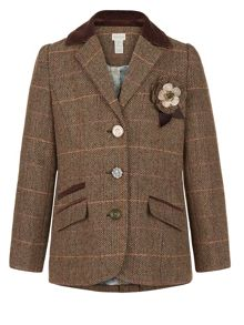 Monsoon Girls Tilly Tweed Blazer