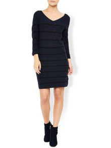 Monsoon Rachel Ripple Stripe Dress