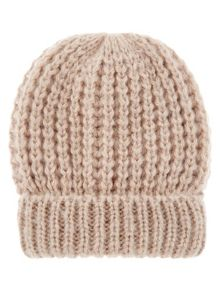 Accessorize Pretty metallic turnup beanie hat