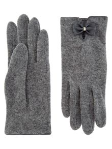 Accessorize Wool Glove With Bow