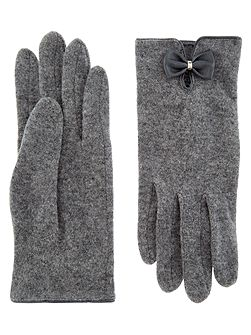 Wool Glove With Bow
