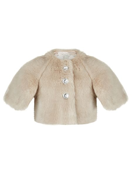 Monsoon Girls Elvie Fur Cape