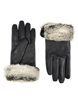 Turnback cuff leather glove