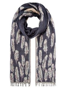 Accessorize Felicity feather jacquard scarf