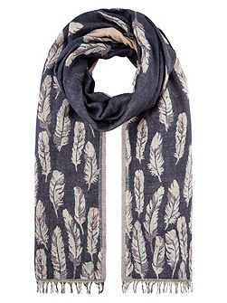 Felicity feather jacquard scarf