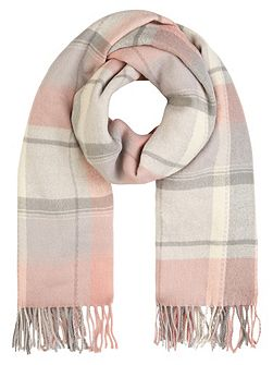 Soft sloane check blanket scarf