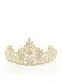 Monsoon Girls Lace Diamante Tiara