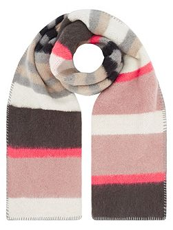 Pastel brushed stripe scarf