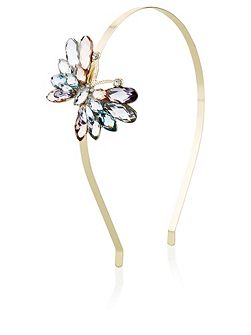 Girls Gem Butterfly Alice Hairband