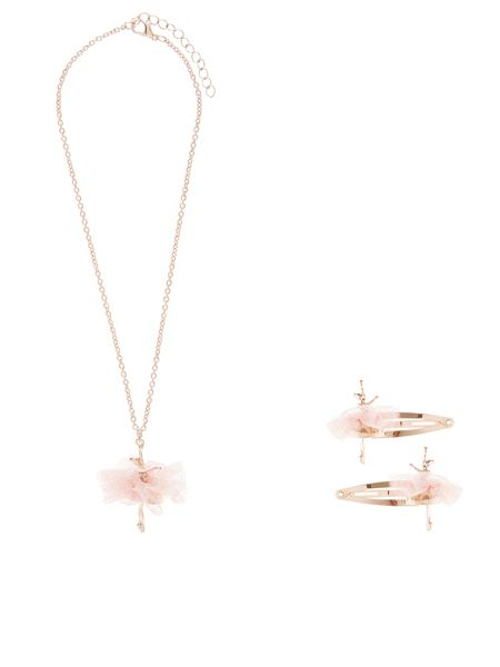 Monsoon Girls Ballerina Necklace and Hair Set