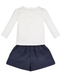 Monsoon Baby Girl Sabina Bird Top & Short Set
