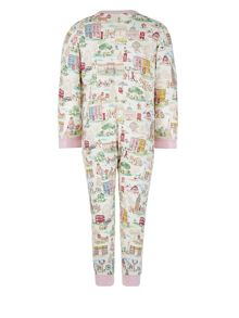 Monsoon Girls Bloomsbury London Jersey Sleepsuit
