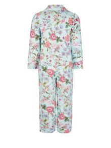 Monsoon Girls Primavera Print Flannel PJ
